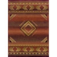 "Generations Red/ Beige Rug (6'7 X 9'1) - 6'7"" x 9'1"""
