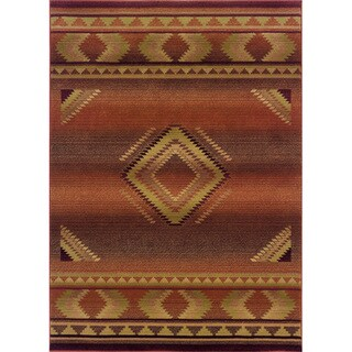 "Generations Red/ Beige Rug - 6'7"" x 9'1"""