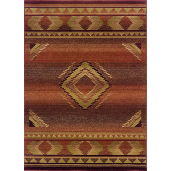 "Generations Red/ Beige Rug (7'10 X 11') - 7'10"" x 11'"