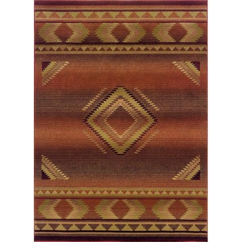 Genevieve Tribal Red/ Beige Area Rug