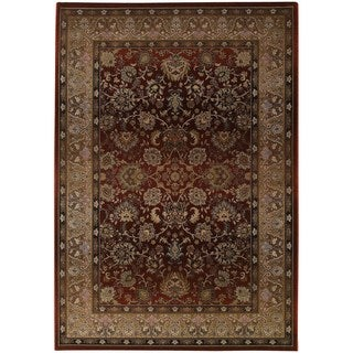 "Generations Traditional Red/ Beige Rug (7'10 x 11') - 7'10"" x 11'"