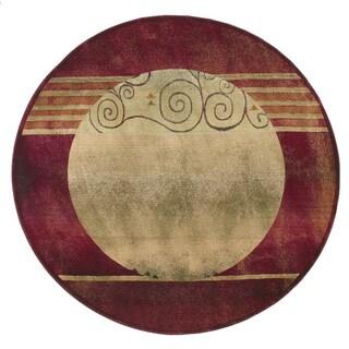 Generations Red/ Beige Rug (8' Round)