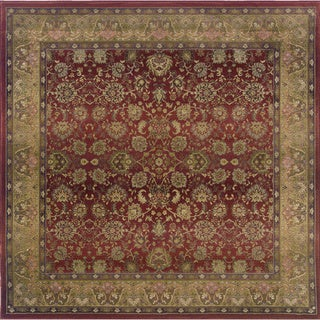 Generations Red/ Beige Rug (8' Square)