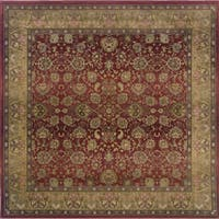 Generations Red/ Beige Rug (8' Square) - 8' Square