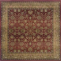 Generations Red/ Beige Rug - 8' Square