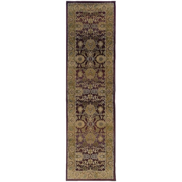 """Generations Red/ Gold Rug (2'3 X 7'6) - 2'3"""" x 7'6"""" Runner"""