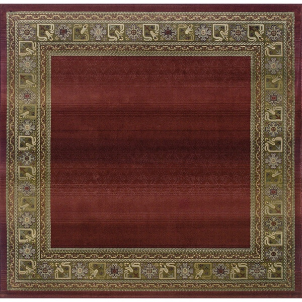 Generations Red/ Green Rug (8' Square) - 8' Square
