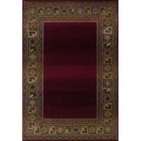 "Generations Red/ Green Rug (7'10 X 11') - 7'10"" x 11'"
