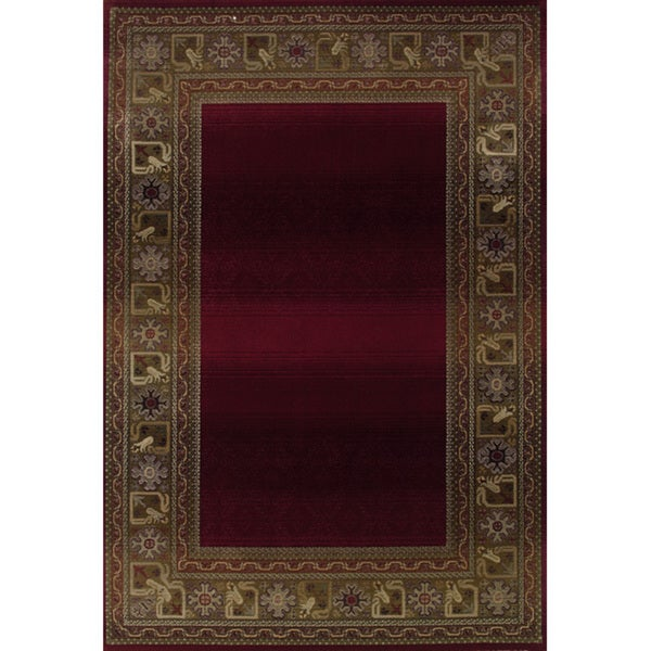 """Genevieve Bordered Traditional Area Rug - 7'10"""" x 11'"""