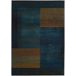 Kharma II Blue/ Gold Rug (5'3 X 7'6)