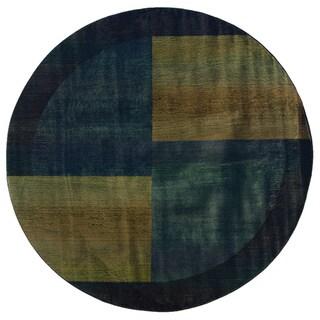 Kharma II Blue/ Gold Rug (6' Round)
