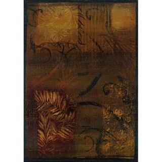 Kharma II Brown/ Gold Rug (2'3 X 4'5)