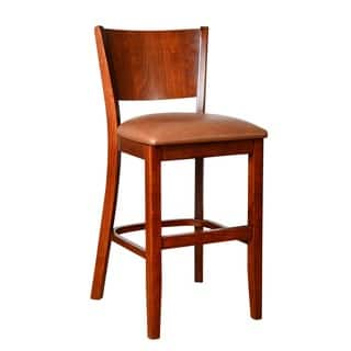 Solid Beech Wood Upholstered Bar Stool Free Shipping