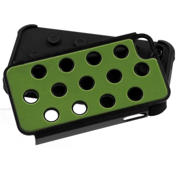 INSTEN Green/ Black Dots TotalDefense Phone Case Cover for Apple iPhone 4S/ 4