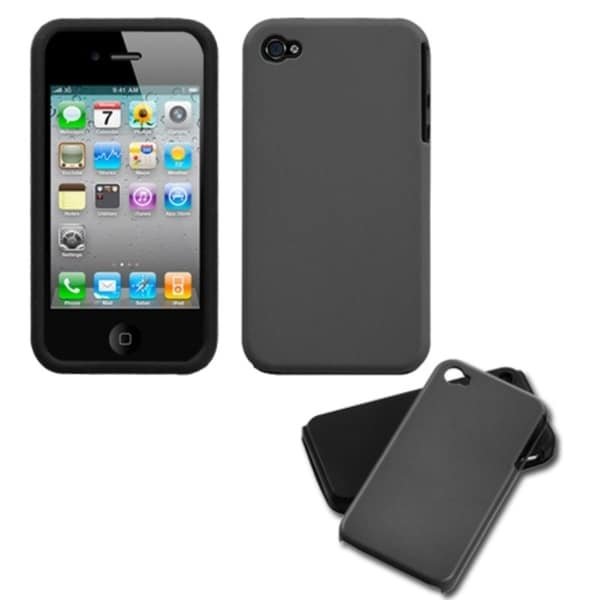 INSTEN Grey Fusion Phone Case Cover for Apple iPhone 4S/ 4