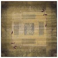 Generations Green/ Beige Rug (8' Square) - 8' x 8' sqr