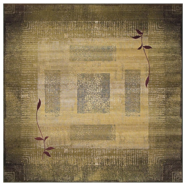 Generations Green/ Beige Rug (8' Square) - 8' Square