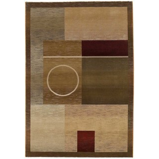 Generations Green/ Brown Rug - 2'3 x 4'5