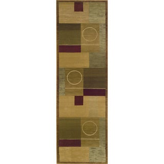 Generations Green/ Brown Rug (2'3 X 7'6)