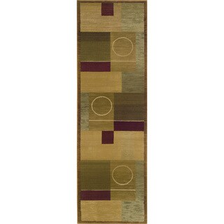 Generations Green/ Brown Rug - 2'3 x 7'6