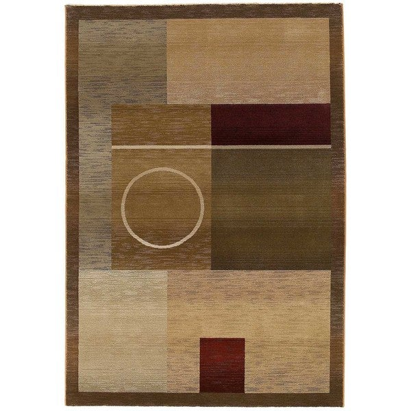 "Generations Green/ Brown Rug (6'7 X 9'1) - 6'7"" x 9'1"""