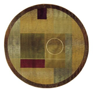 Generations Green/ Brown Rug - 8' x 8'