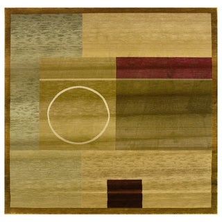 Generations Green/ Brown Rug - 8' Square