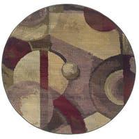 Generations Purple/ Green Rug (8' Round) - 8' x 8' rnd