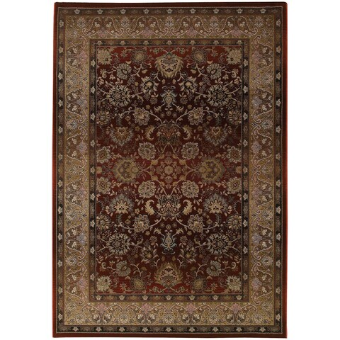 Generations Red/ Beige Rug - 2' X 3'