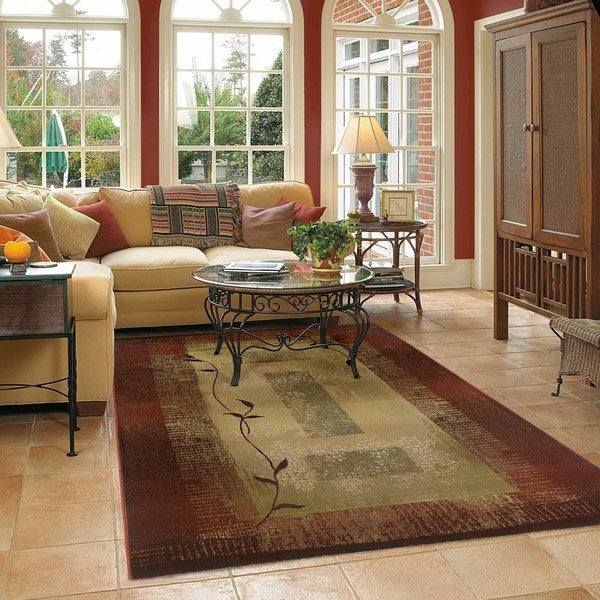 Generations Red/ Beige Accent Rug (2' x 3') - 2' X 3'