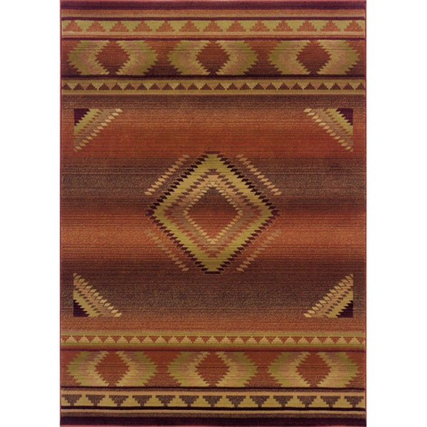 "Generations Transitional Red/ Beige Rug (2'3 x 4'5) - 2'3"" x 4'5"""