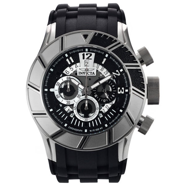 Invicta Men's 14029 Stainless Steel 'Pro Diver' Quartz Watch with Black Rubber Strap