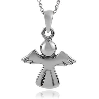 Journee Collection Sterling Silver Angel Pendant