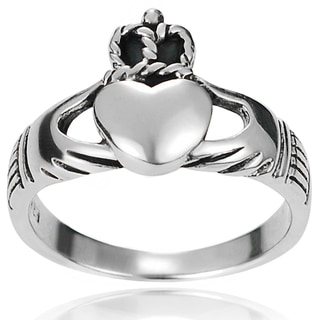 Journee Collection Sterling Silver Highly Polished Claddagh Ring
