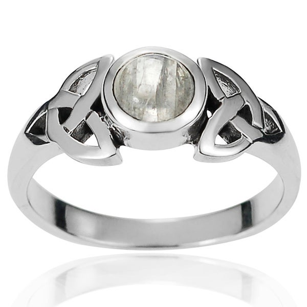 Shop Journee Collection Sterling Silver Moonstone Celtic ...