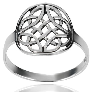 Journee Collection Sterling Silver Round Celtic Knot Ring