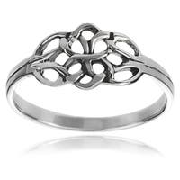 Journee Collection Sterling Silver Celtic Double Knot Ring