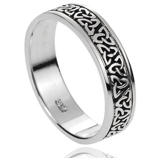 Journee Collection Sterling Silver Celtic Knot Band