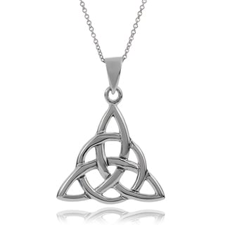 Journee Collection Sterling Silver Celtic Knot Pendant