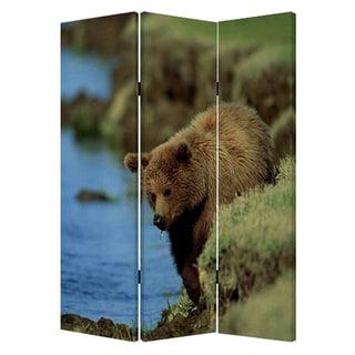 Bear 3-Panel Canvas Screen