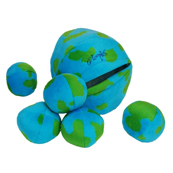 Loopies Medium Ball O' Planets Squeaker Toy