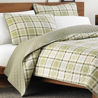 Eddie Bauer Westmont Plaid 3-piece Reversible Quilt Set