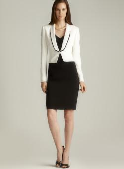 Tahari Black &amp White Jacket Dress - Free Shipping Today