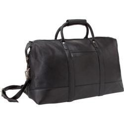 LeDonne C-150 Black 27-inch Leather Travel Duffel Bag