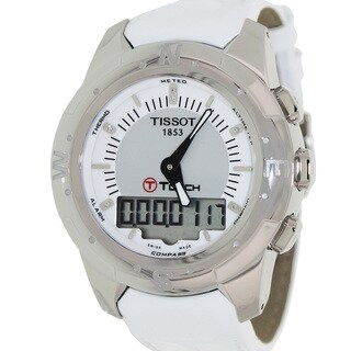 Tissot Women's 'T-Touch Ii ' White Leather Grey Dial Swiss Automatic Watch