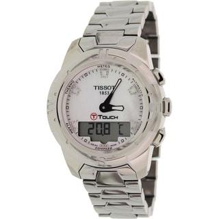 Tissot Women's 'T-Touch Ii T047.220.44.116.00' Silvertone Titanium Mother-of-Pearl Dial Swiss Quartz Watch