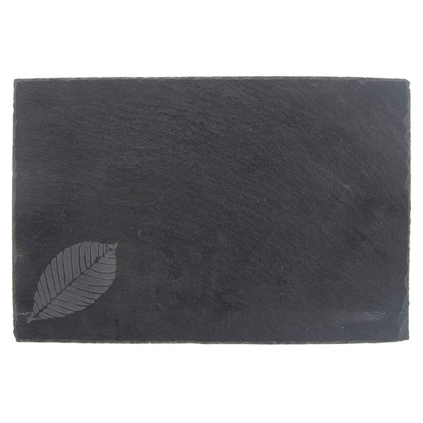 Etched Leaf with Chalk Slate Cheese Board