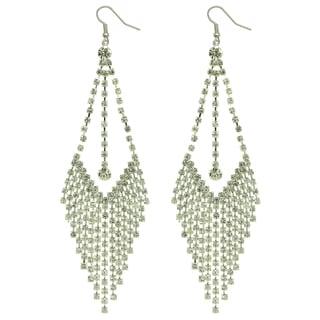 Kate Marie Silvertone Rhinestone 'Bella' Fashion Earrings