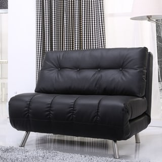 Gold Sparrow Tampa Black Convertible Chair Bed