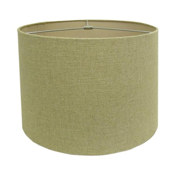 Round Linen Drum Shade